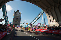 Elite Men lead group<br /> The Virgin Money London Marathon 2014<br /> 13 April 2014<br /> Photo: David Levenson/Virgin Money London Marathon<br /> media@london-marathon.co.uk