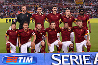 Formazione AS Roma. AS Roma team line ups<br /> Morgan De Sanctis, Konstantinos Manolas, Davide Astori, Radja Nainggolan, Gervinho <br /> Juan Manuel Iturbe, Francesco Totti, Miralem Pjanic, Vasilis Torosidis, Ashley Cole, Daniele De Rossi <br /> Roma 30-08-2014 Stadio Olimpico, Football Calcio Serie A AS Roma - Fiorentina . Foto Andrea Staccioli / Insidefoto<br /> Fiorentina captain Davide Astori dies suddenly aged 31 . <br /> Astori was staying a hotel with his team-mates ahead of their game on Sunday away at Udinese when he passed away. <br /> Foto Insidefoto