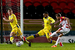 James Coppinger of Doncaster Rovers scores a goal to make it 1-0 - Mandatory by-line: Robbie Stephenson/JMP - 26/03/2019 - FOOTBALL - Keepmoat Stadium - Doncaster, England - Doncaster Rovers v Bristol Rovers - Sky Bet League One