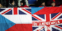 Fotball / Soccer<br /> Play off VM 2006 / Play off World Champio0nships 2006<br /> Tsjekkia v Norge 1-0<br /> Czech Republic v Norway 1-0<br /> Agg: 2-0<br /> 16.11.2005<br /> Foto: Morten Olsen, Digitalsport<br /> <br /> Czech / Britain supporters