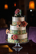 Photo by Matt Roth<br /> Assignment ID: 30148071A<br /> <br /> The wedding cake of David Hagedorn, a chef and food writer, and Michael Widomski, a spokesman for the National Weather Service, at Fiola Restaurant in Washington, DC, Sunday, September 22, 2013.