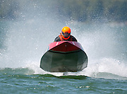 2006 CSR driver Richard Runne charges across Croocked Lake on Sunday.