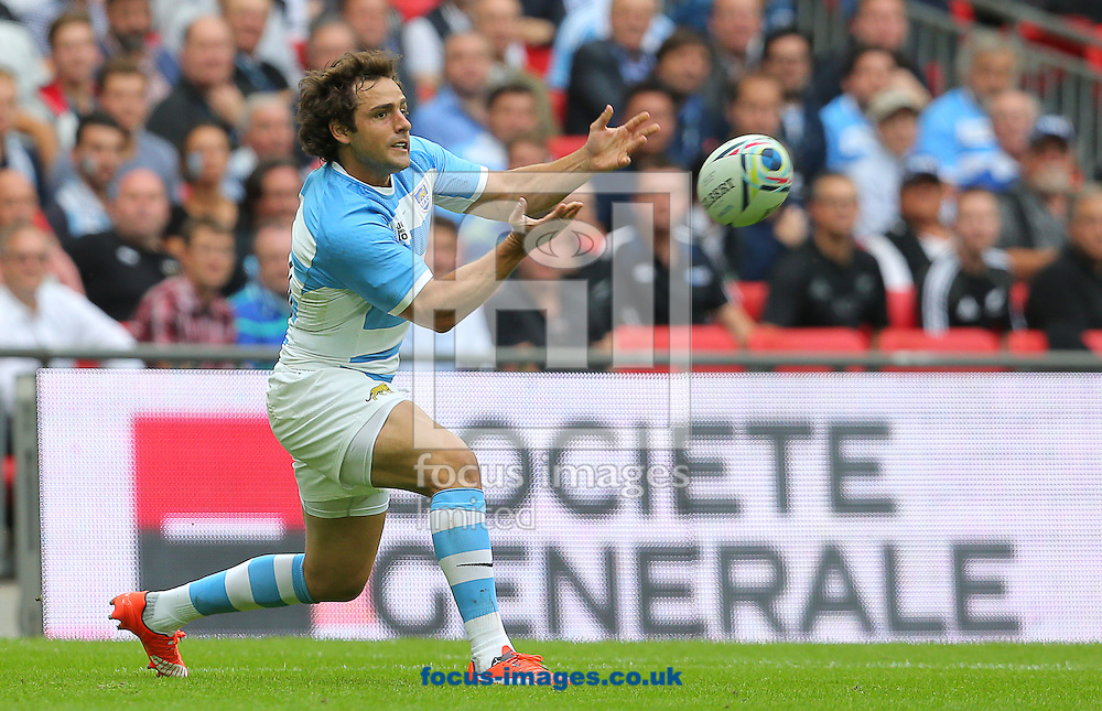 Nicolas Sanchez of Argentina during the 2015 Rugby World Cup match at Wembley Stadium, London<br /> Picture by Paul Terry/Focus Images Ltd +44 7545 642257<br /> 20/09/2015