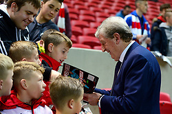 Crystal Palace manager Roy Hodgson signs autographs for fans before the game - Mandatory by-line: Dougie Allward/JMP - 24/10/2017 - FOOTBALL - Ashton Gate Stadium - Bristol, England - Bristol City v Crystal Palace - Carabao Cup