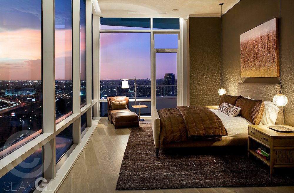 Luxury high rise condo at sunset sean gallagher photography for Image city interiors