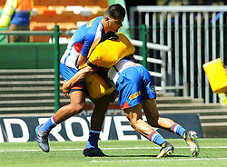 Cape Town-180217 Stomers players Damien de Allende and Dillyn Leyds warming up before their Super 15 rugby game against Jaguares.photograph:Phando Jikelo/African News Agency/ANA