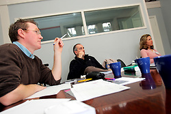 UK ENGLAND LONDON 16FEB07 - Teacher Sean Greene (L) explains during the English for International Business class at the London School of English, Holland Park, West London. Established in 1912, the LSE is the oldest language school in the world.. . jre/Photo by Jiri Rezac. . © Jiri Rezac 2007. . Contact: +44 (0) 7050 110 417. Mobile:  +44 (0) 7801 337 683. Office:  +44 (0) 20 8968 9635. . Email:   jiri@jirirezac.com. Web:    www.jirirezac.com. . © All images Jiri Rezac 2007 - All rights reserved.