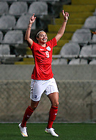 Fifa Womans World Cup Canada 2015 - Preview //<br /> Cyprus Cup 2015 Tournament ( Gsp Stadium Nicosia - Cyprus ) - <br /> Australia vs England 0-3   // Jodie Taylor of England , celebrates after his 3th Goal (0-3)