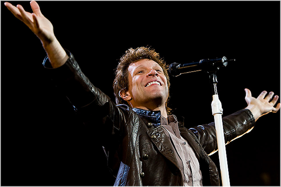 Jon Bon Jovi performs at Montreal's Bell Center. PHOTO BY TIM SNOW