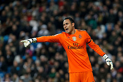 15.03.2015, Estadio Santiago Bernabeu, Madrid, ESP, Primera Division, Real Madrid vs UD Levante, 27. Runde, im Bild Real Madrid´s Keylor Navas // during the Spanish Primera Division 27th round match between Real Madrid CF and UD Levante at the Estadio Santiago Bernabeu in Madrid, Spain on 2015/03/15. EXPA Pictures © 2015, PhotoCredit: EXPA/ Alterphotos/ Victor Blanco<br /> <br /> *****ATTENTION - OUT of ESP, SUI*****