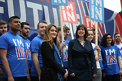 "© Licensed to London News Pictures . 15/04/2016 . Manchester , UK . Lucy Powell MP visits Manchester Metropolitan University as part of the "" Britain Stronger in Europe "" campaign . Photo credit: Joel Goodman/LNP"