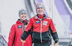 16.02.2020, Kulm, Bad Mitterndorf, AUT, FIS Ski Flug Weltcup, Kulm, Herren, im Bild v.l. Sportdirektor Ski Nordisch Mario Stecher (AUT), Cheftrainer Andreas Felder (AUT) // f. l: Sports Director Nordic Ski Mario Stecher (AUT) Head Coach Andreas Felder (AUT) during the men's FIS Ski Flying World Cup at the Kulm in Bad Mitterndorf, Austria on 2020/02/16. EXPA Pictures © 2020, PhotoCredit: EXPA/ JFK