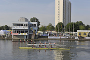 Gent, BELGIUM,  Across the course, Women's fours, competing at International Belgian Rowing Championships, Sunday 10/05/2009, [Mandatory Credit. Peter Spurrier/Intersport Images]