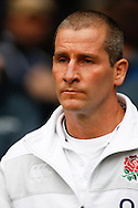 Stuart Lancaster looks on during the RBS Six Nations match between England and Scotland at Twickenham Stadium, UK, on the 2nd February 2013. (Photo by Andrew Tobin www.slikimages.com)