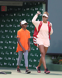 March 22, 2018 - Key Biscayne, Florida, United States Of America - KEY BISCAYNE, FL - MARCH 22: Madison Keys during Day 4 of the Miami Open at the Crandon Park Tennis Center on March 22, 2018 in Key Biscayne, Florida...People:  Madison Keys. (Credit Image: © SMG via ZUMA Wire)