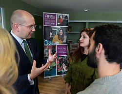 Pictured: The minsiter chats to some of the staff during his visit<br /> <br /> Migration minister Ben Macpherson visited social care provider Carr Gomm in Edinburgh today where he discussed with staff how proposed new UK immigration rules will hamper the recruitment of health and social care workers from outside the UK and Ireland. <br /> <br /> <br /> Ger Harley | EEm 21 March 2019