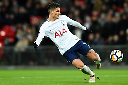 February 7, 2018 - London, United Kingdom - Tottenham Hotspur's Erik Lamela takes a shot at goal during the FA Cup Fourth Round replay match between Tottenham Hotspur and Newport County at Wembley stadium, London, England on 10 Feb  2018. (Credit Image: © Kieran Galvin/NurPhoto via ZUMA Press)