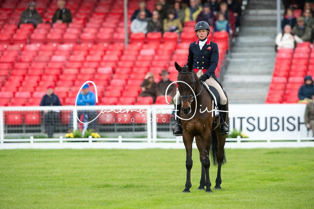 Taylor Izzy, (GBR), Thistledown Poposki<br /> Dressage <br /> Mitsubishi Motors Badminton Horse Trials - Badminton 2015<br /> &copy; Hippo Foto - Jon Stroud<br /> 07/05/15