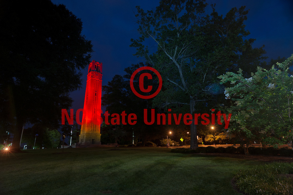 The red belltower looms over campus. Photo by Marc Hall