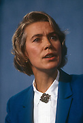 Minister of State for Health and Conservative MP, Virginia Bottomley at the Conservative party conference on 11th October 1991 in Blackpool, England. Virginia Hilda Brunette Maxwell Bottomley, Baroness Bottomley of Nettlestone, PC, DL (née Garnett, born 12 March 1948) is a British Conservative Party politician. She was a Member of Parliament (MP) in the House of Commons from 1984 to 2005. She was raised to the peerage in 2005.