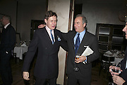 Nick Foulkes and Charles Finch, Charles Finch and Weidenfeld and Nicolson host a party to celebrate the publication of 'Dancing Into Battle' by Nick Foulkes. The Westbury Hotel, Conduit St. London. 14 December 2006. ONE TIME USE ONLY - DO NOT ARCHIVE  © Copyright Photograph by Dafydd Jones 248 CLAPHAM PARK RD. LONDON SW90PZ.  Tel 020 7733 0108 www.dafjones.com