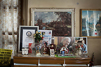 VERBANIA, ITALY - 18 APRIL 2017: Personal belongings of Emma Morano, including a Guinness World Record certificate for the oldest woman aliev,  are seen here in her room in Verbania, Italy, on April 18th 2017.<br /> <br /> Emma Morano, born in 1899, was an Italian supercentenarian who, prior to her death at the age of 117 years and 137 days, was the world's oldest living person whose age had been verified, and the last living person to have been verified as being born in the 1800s. She died on April 15th 2017.
