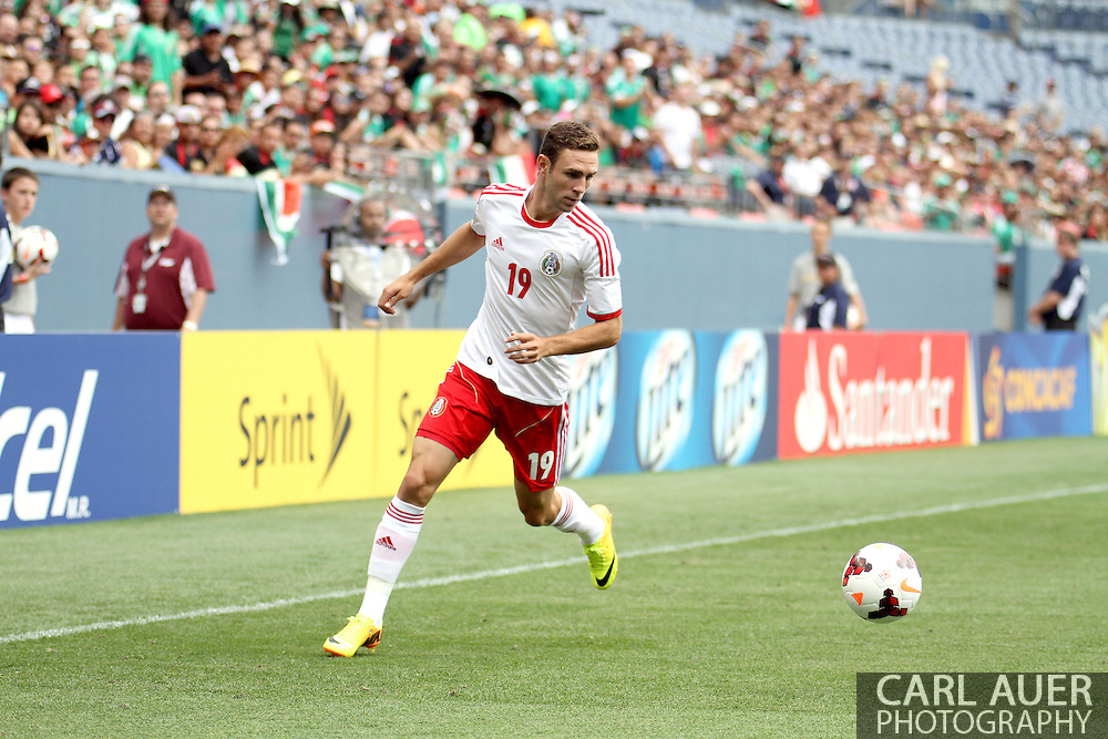 July 14 2013:  Mexico Defender Miguel Layun (19) during the first half of the CONCACAF Gold Cup soccer match between Martinique and Mexico at Sports Authority Field in Denver, CO. USA.