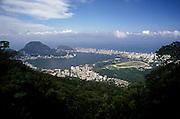 The view of Lagoa and Ipanema, Rio de Janiero, Brazil.