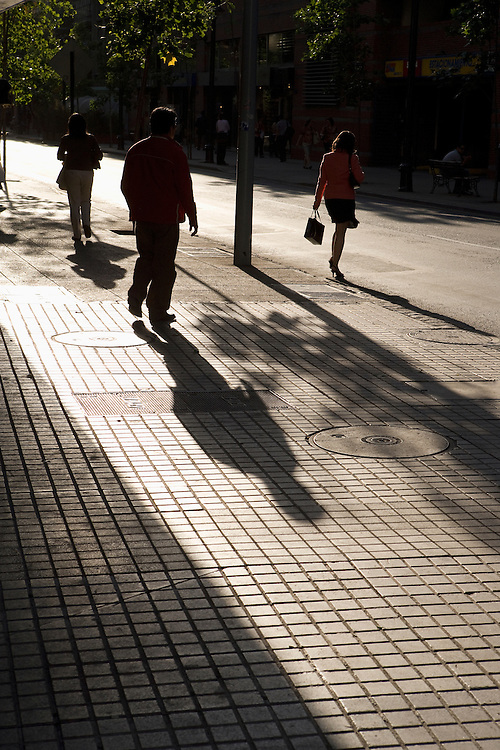 Pedestrians in Bellavista, Santiago, Chile