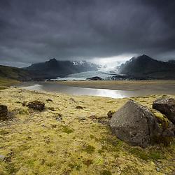 Islande, glacier et lac