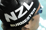 Moss Burmester catches his breath after winning the Mens 200m Butterfly Final on day three of the 2006 New Zealand Youth and Open Swimming Championships at QEII Leisure Centre, Christchurch on Friday 14 April 2006. Photo: Simon Fergusson/PHOTOSPORT<br /> <br /> <br /> 140406