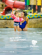 Image for a print ad for Kalahari Resorts, the largest indoor waterpark in the world. Ad created by Jacobson / Rost.