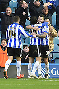 Daniel Pudil of Sheffield Wednesday celebrates scoring goal  during the Sky Bet Championship match between Sheffield Wednesday and Wolverhampton Wanderers at Hillsborough, Sheffield, England on 20 December 2015. Photo by Ian Lyall.