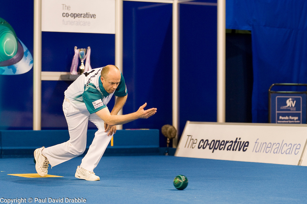 Cooperative Funeralcare World Bowls Tour Final Ian Bond Vs Jason Greenslade at Ponds Forge Sheffield 18 June 2010 .Images © Paul David Drabble.