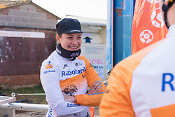 Roxane Knetemann happy to be racing with her Rabo Liv teammates - 2016 Omloop van het Hageland - Tielt-Winge, a 129km road race starting and finishing in Tielt-Winge, on February 28, 2016 in Vlaams-Brabant, Belgium.