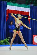 Letizia D'Arenzo atleta della società Eurogymnica di Torino durante la seconda prova del Campionato Italiano di Ginnastica Ritmica.<br /> La gara si è svolta a Desio il 31 ottobre 2015.