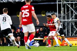 Niclas Eliasson of Bristol City is challenged by Anthony Knockaert of Fulham - Rogan/JMP - 07/12/2019 - Craven Cottage - London, England - Fulham v Bristol City - Sky Bet Championship.