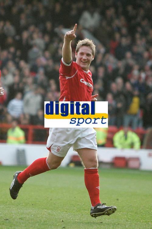 Photo: Pete Lorence.<br />Nottingham Forest v Bentford. Coca Cola League 1. 04/11/2006.<br />Kris Commons celebrates his second goal.