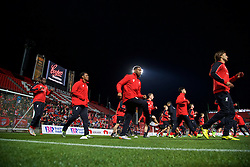 ADELAIDE, AUSTRALIA - Sunday, July 19, 2015: Liverpool's Sheyi Ojo, Andre Wisdom, Jordon Ibe and Lazar Markovic during a training session at Coopers Stadium ahead of a preseason friendly match against Adelaide United on day seven of the club's preseason tour. (Pic by David Rawcliffe/Propaganda)