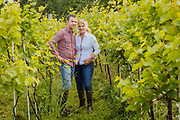 Deirdre Heekin and Caleb Barber of La Garagista Farm and Winery for Wine Spectator.