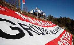 31.01.2013, Schladming, AUT, FIS Weltmeisterschaften Ski Alpin, Schladming 2013, Vorberichte, im Bild eine fuer die WM errichtete Aussichtsplattform in Ramsau am Dachstein mit Blick auf die Planai am 31.01.2013 // a tower in Ramsau am Dachstein with view to the Planai on 2013/01/31, preview to the FIS Alpine World Ski Championships 2013 at Schladming, Austria on 2013/01/31. EXPA Pictures © 2013, PhotoCredit: EXPA/ Martin Huber