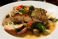 Red snapper pagello arosto is among the menu items at Cibare Italian Kitchen, the recently-opened Italian restaurant at River City Casino in Lemay Friday, April 28, 2017. The restaurant includes fine Italian dining and specialty deserts and gelato.<br /> <br /> Photo by Sid Hastings