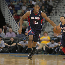 05 November 2008: Atlanta Hawks center Al Horford (15)in action during the first half of a NBA game between the New Orleans Hornets and the Atlanta Hawks at the New Orleans Arena in New Orleans, LA..