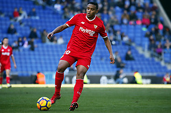 January 20, 2018 - Barcelona, Spain - Luis Muriel during the La Liga match between RCD Espanyol and Sevilla FC played in the RCDEstadium, in Barcelona, on January 20, 2018. Photo: Joan Valls/Urbanandsport/Nurphoto  (Credit Image: © Joan Valls/NurPhoto via ZUMA Press)