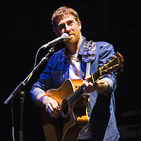 Musician Jamie Lawson performs on stage prior to Ed Sheeran at the Amway Center on Tuesday, September 8, 2015 in Orlando, Florida.  (Alex Menendez via AP)