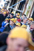 Repro Free: 05/12/2012.Members of the public out side Peter Byrne's butchers in Dublin's Camden Street as Betfair gave away 150 free turkeys as part of their ?Beat the Budget? campaign. Pic Andres Poveda.
