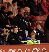 Photo: Jed Wee.<br /> Middlesbrough v Coventry City. The FA Cup. 08/02/2006.<br /> <br /> Middlesbrough manager Steve McClaren avoided the technical area after last week's confrontation with a fan, but feels the frustration nonetheless.