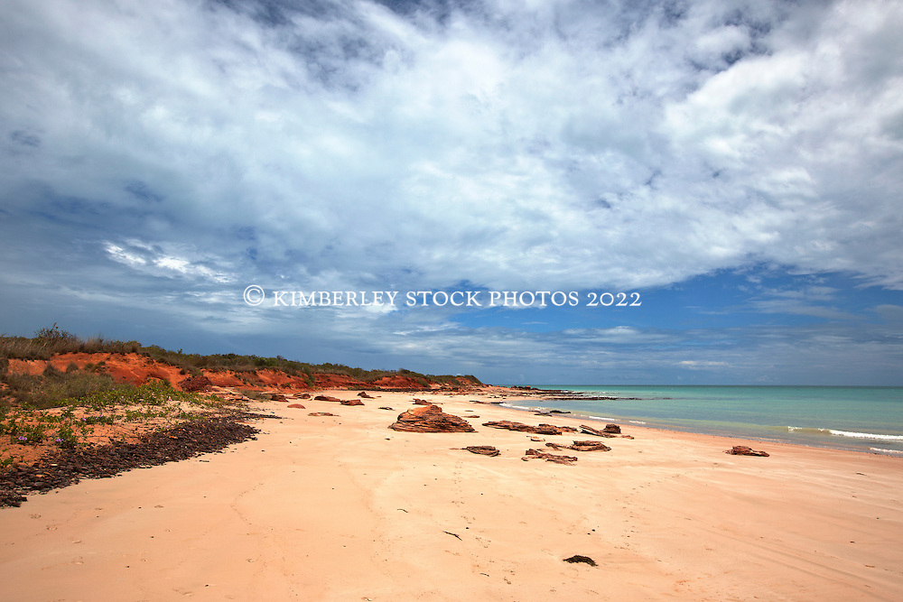 Storm clouds build in the build-up to the Kimberley wet season on Broome's Cable Beach.