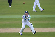Lewis McManus of Hampshire fielding during the Specsavers County Champ Div 1 match between Hampshire County Cricket Club and Middlesex County Cricket Club at the Ageas Bowl, Southampton, United Kingdom on 16 April 2017. Photo by David Vokes.
