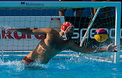 Goalkeeper of Croatia Josip Pavic during waterpolo Semifinal Round match between National teams of Croatia and Serbia during the 13th FINA World Championships Roma 2009, on July 30, 2009, at the Stadio del Nuoto,  Foro Italico, Rome, Italy. Serbia won 12:11. (Photo by Vid Ponikvar / Sportida)